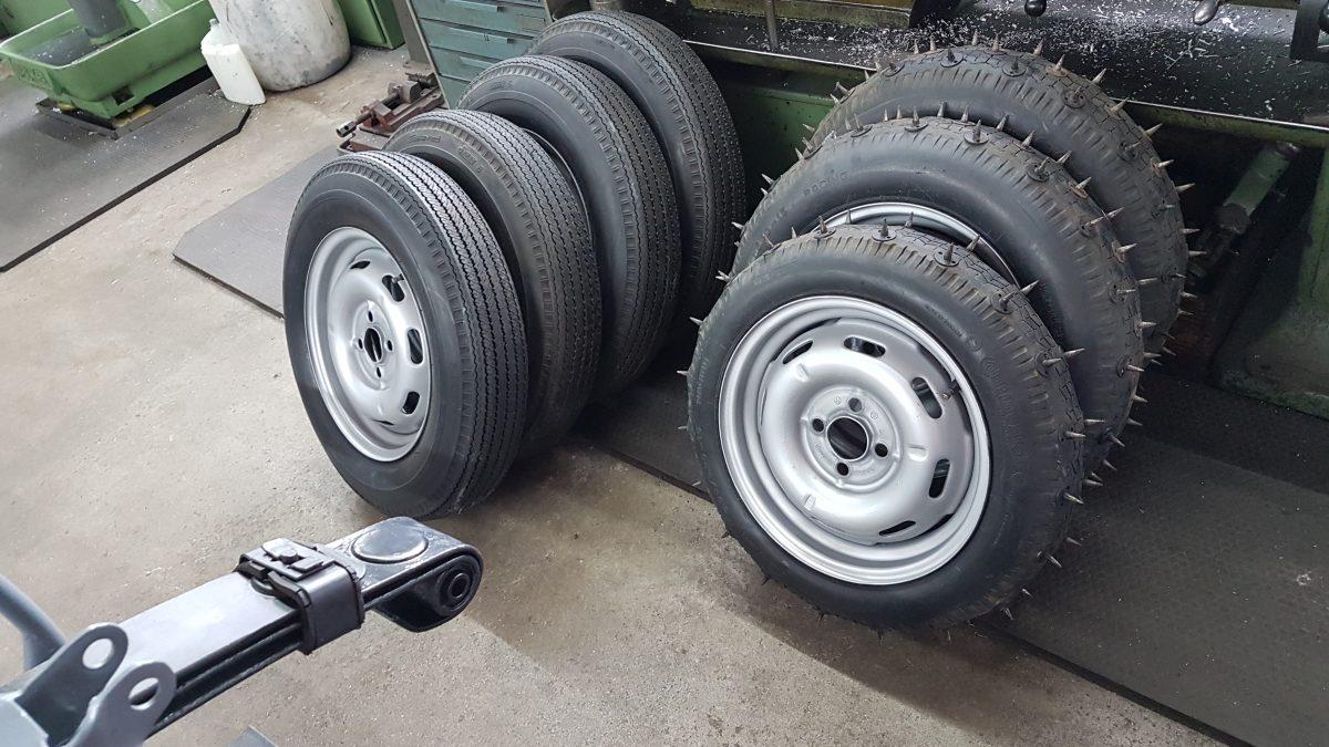 Scuderia Hartmann-Zwei Reifensätze sind schon montiert
